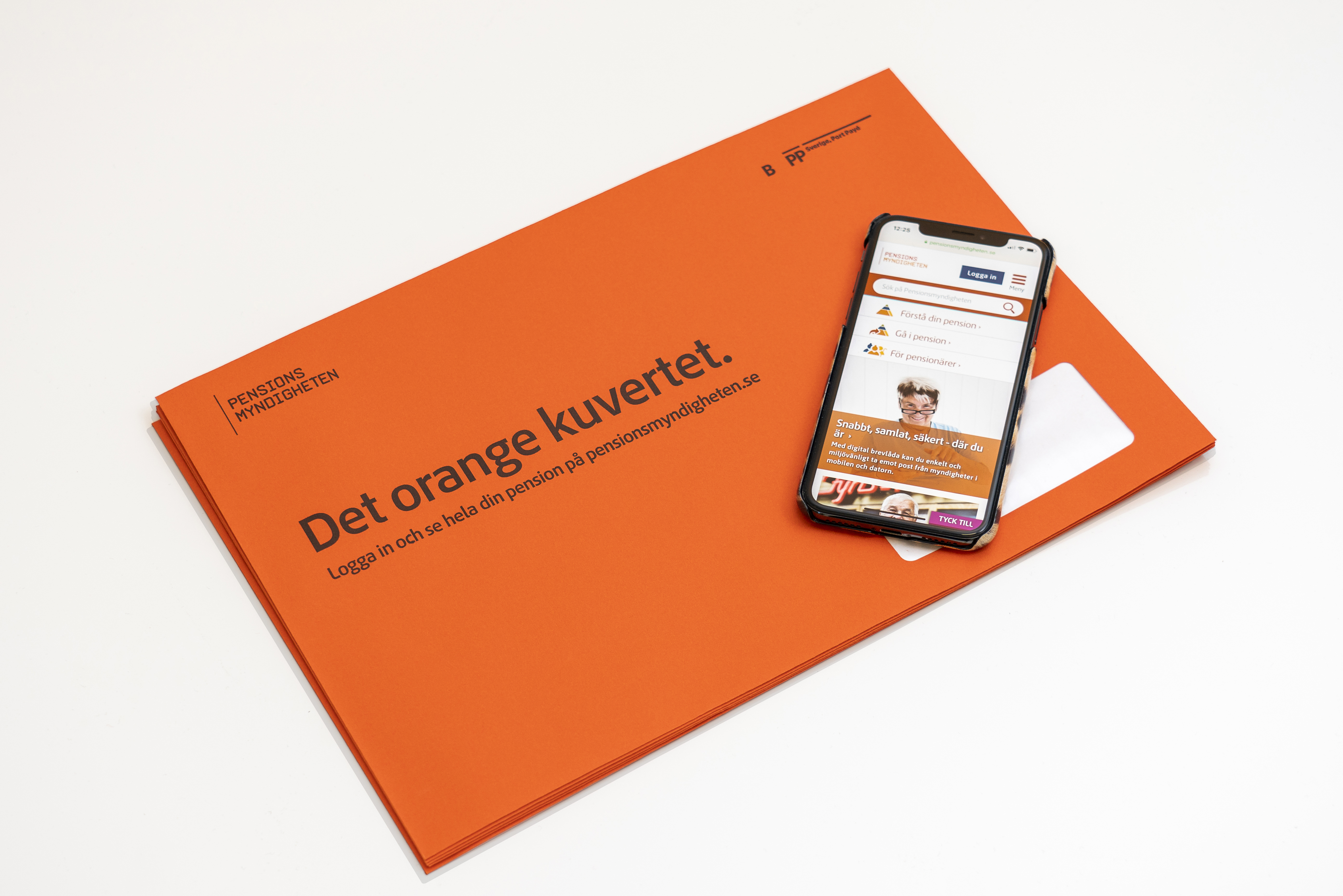 Orange kuvertet